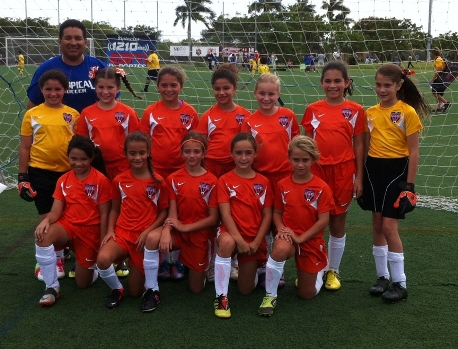 U10 Girls - Blue Fireballs - Semi-Finalist Miami World Cup - March 2013